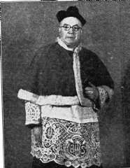 A later image of Father Pozzi as Canon of Llandudno
